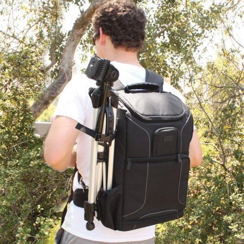 Professional Backpack DSLR Photo Strap , Tripod Lens for EOS Rebel T5 , T6i Digital Cameras