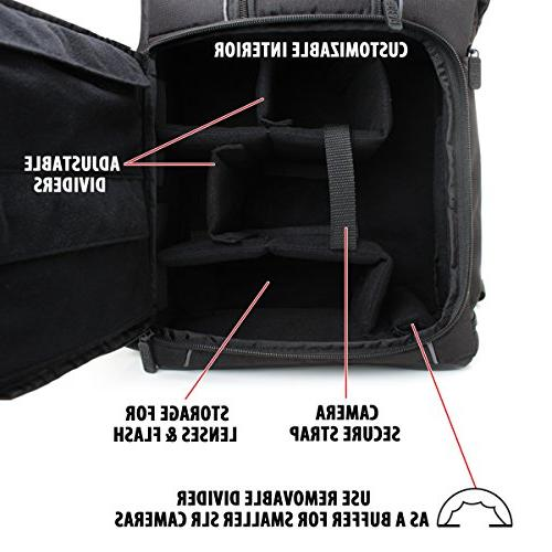 Professional Photo Comfort Strap Design Laptop , Tripod for Rebel T5 T5i , T6i and More Full-Sized Digital SLR