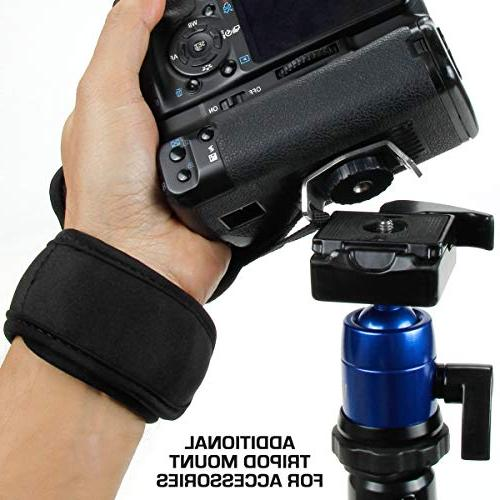 Professional Camera Grip Hand Strap Black Padded Neoprene Metal Plate by - , , Nikon , and more DSLR , Point Shoot