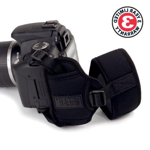 Professional Strap with Neoprene Metal Plate USA Gear - With , Nikon , Sony more DSLR , Point &