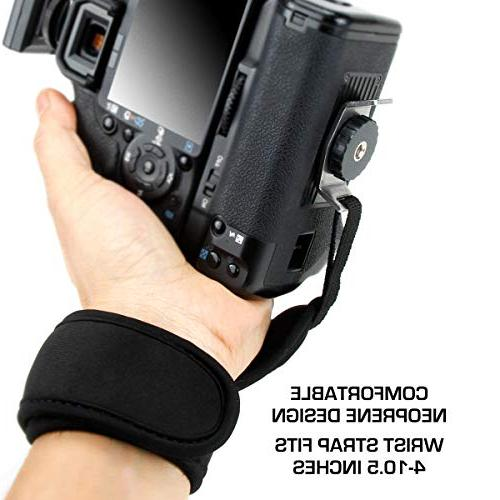 Professional Camera Strap Black Padded Plate by USA - Works , , Sony more DSLR , Mirrorless Point