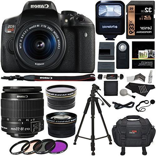 Canon EOS Rebel T6i 24.2 MP DSLR Camera, 18-55mm f/3.5-5.6 S