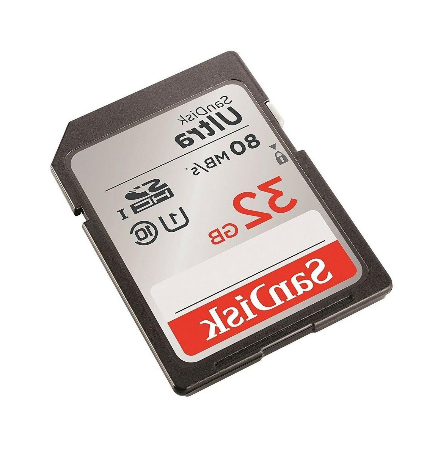 SD Class Storage Memory Ultra UHS-I For DSLR Canon Camera