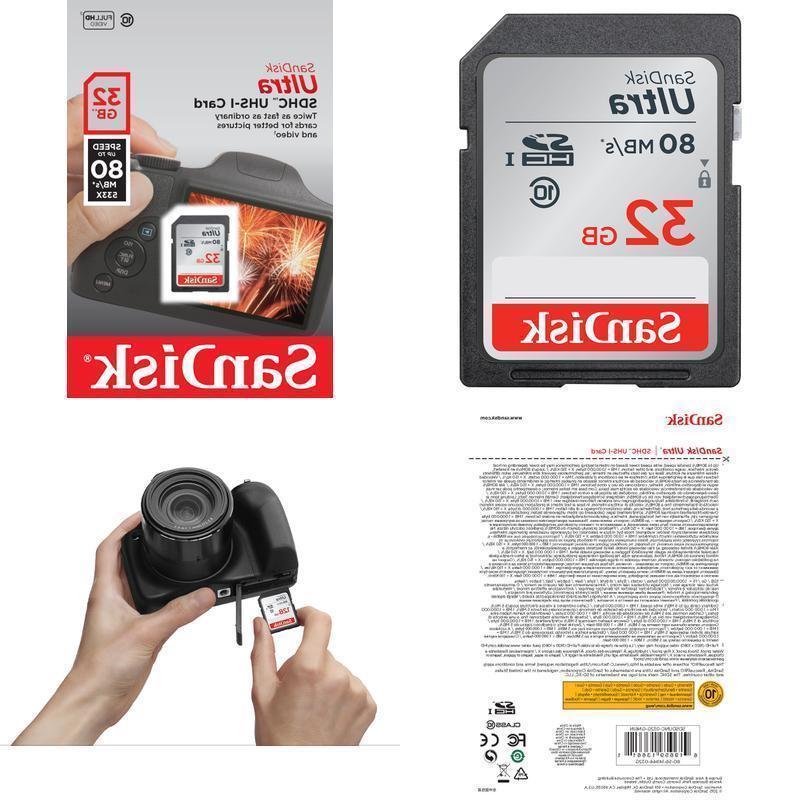 SD Memory Card Class UHS-I Canon Nikon Camera US New