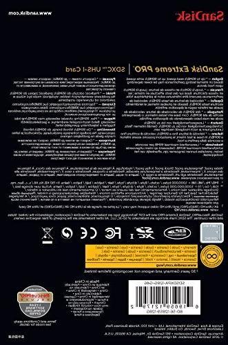 SanDisk up to 95MB/s UHS-I/U3 SDXC Memory Card -