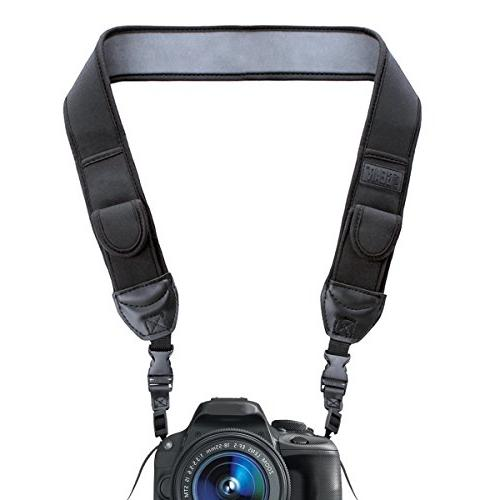 trueshot camera strap black neoprene pattern quick release b