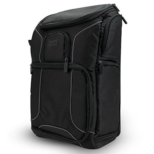 USA GEAR Camera Compartment featuring Padded Custom Dividers, Cover. Durability Storage Pockets w/Many