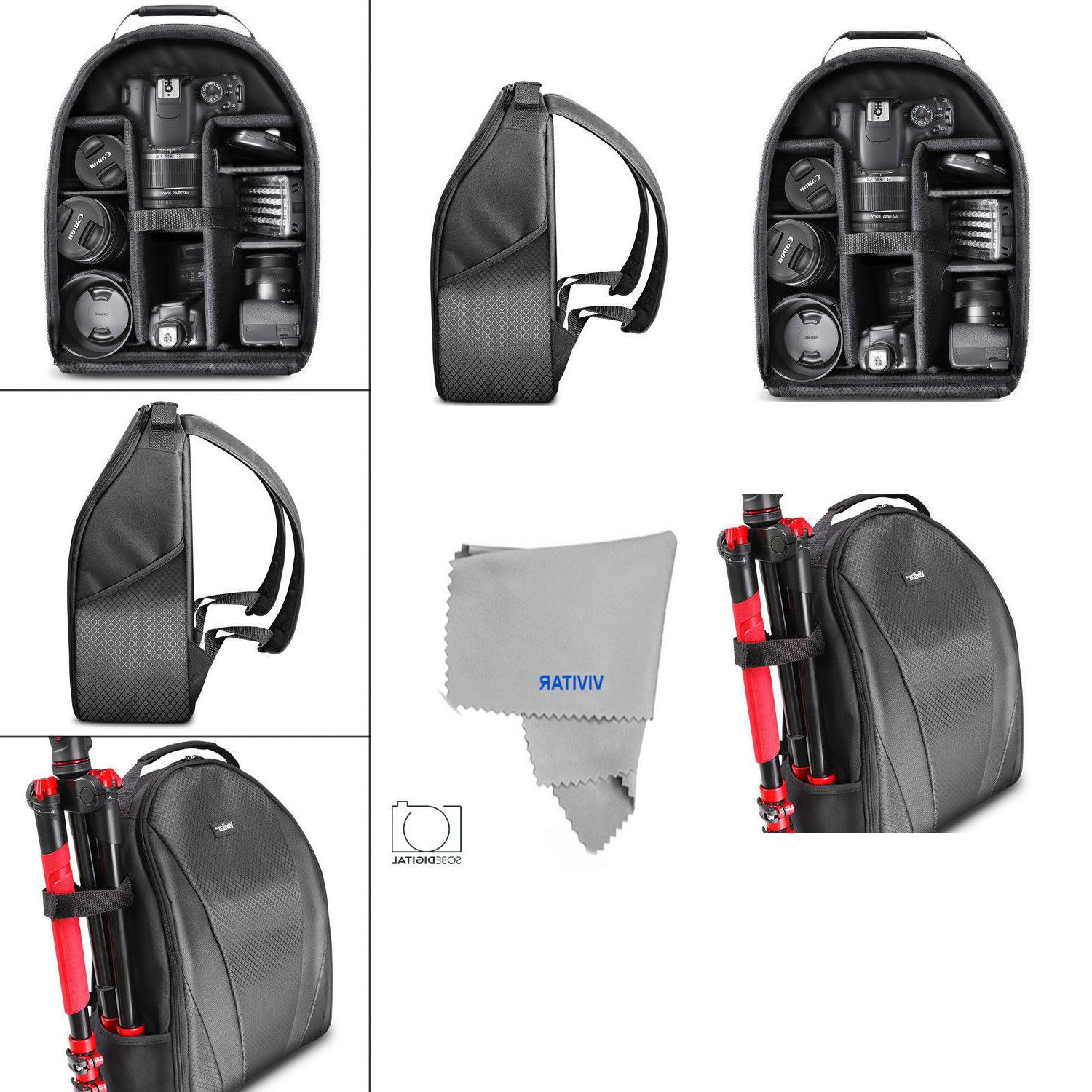 VIVITAR BACKPACK FITS & LENSES - Canon