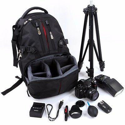 Waterproof Large Backpack Bag Case for Camera Lens DSLR Cano