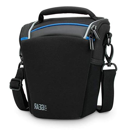 USA Gear SLR/DSLR Camera Case Bag with Top Loading Accessibi