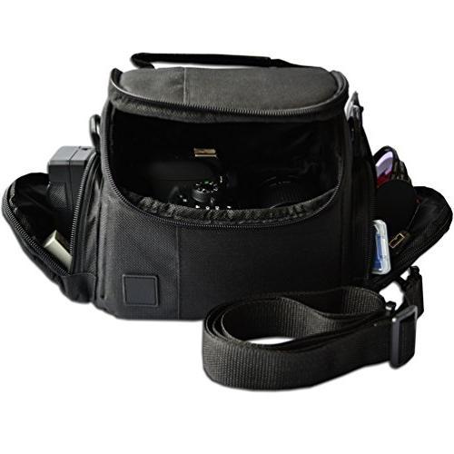 Well Padded DSLR Bag w/ Zippered Accessory Compartments for EOS T5i T5 T3 70D 60D 7D 6D 5D 700D 600D 550D 100D M2 T1i XTi XSi 7D II DSLR