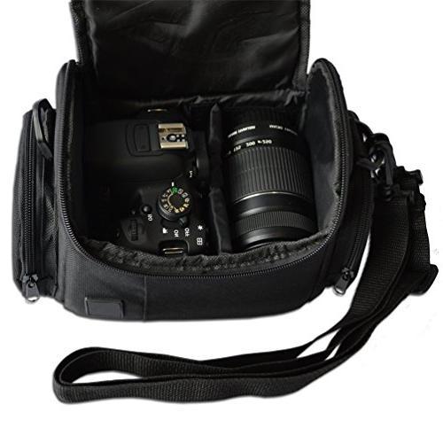 Well Medium w/ Pockets and Accessory Canon EOS Rebel T6i T3 70D 6D 5D 600D 100D T1i XSi DSLR Cameras