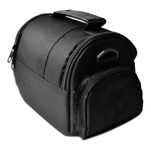 Well Padded Medium DSLR Camera Bag w/ Zippered and Accessory for EOS T5i T3 T2i 70D 60D 5D 600D 100D EOS T1i XTi XSi 7D DSLR