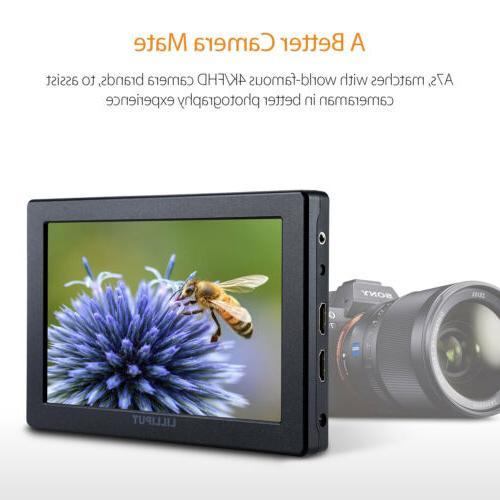 Lilliput A7s 4K HDMI DSLR field monitor M LP-E6