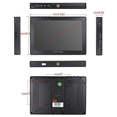 "Lilliput A7S 7"" 1920x1200 IPS Screen Monitor Input Video For DSLR Camera SONY GH5 5D Mark IV OFFICIAL SELLER VIVITEQ"