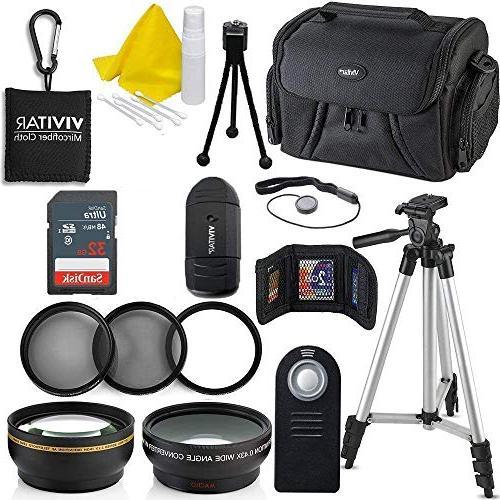 Professional 52MM Accessory Bundle Kit For Nikon D3300 D3200