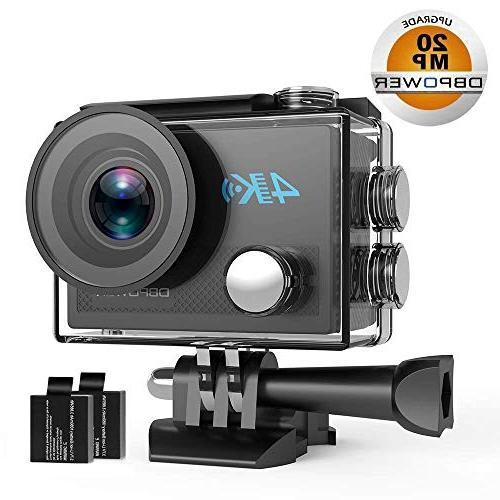 DBPOWER DB0923 Action HD Sensor Sports Camera, EIS Underwater Wide-Angle Lens Rechargeable Accessories Kit
