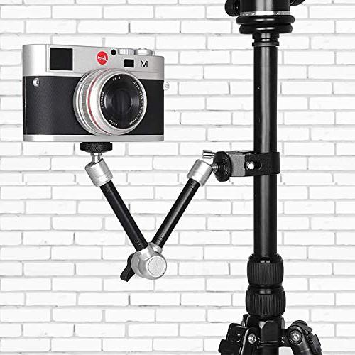 11 Inch Articulating Israeli Magic w/Super Clamp Wide Clip Hi-Torque Screw Gopro Adapter Compatible Gopro Sony DSLR Action Camera