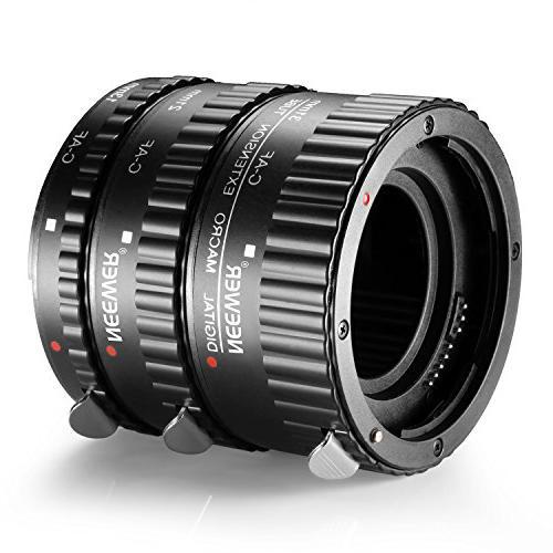 Neewer Focus ABS Macro Tube Set for DSLR Cameras Such 5D 1D IV,7D 20D 30D 40D 300D 350D 400D 550D