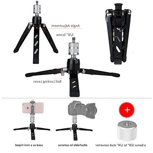 Cayer AF34DVH4 Monopod Aluminum Camera Tilt Fluid Head 3-Leg Tripod DSLR Cameras Camcorders, Plus Plate