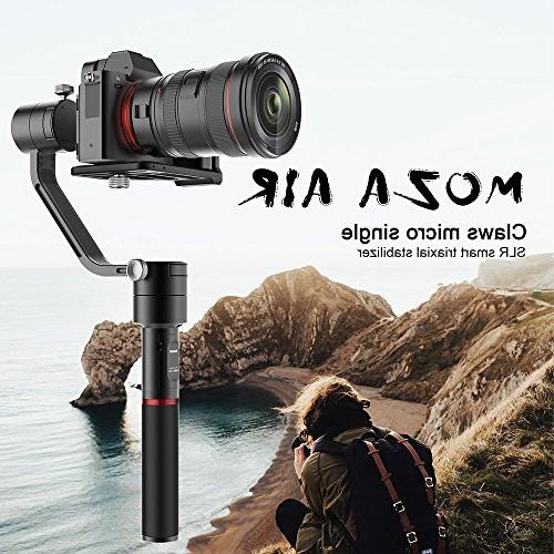 MOZA Air Gimbal Video Stabilizer+Dual Handle Weights Between DSLR and Mirrorless Camera GH5 GH4 GH3 EOS