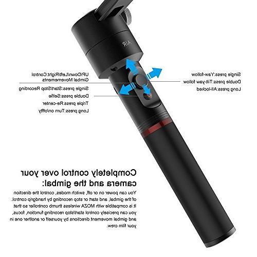 MOZA Air Gimbal Stabilizer+Dual Grip+Mini DSLR GH5 GH4 GH3 EOS 5D IV