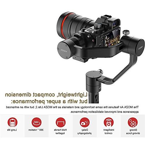 MOZA Handheld Gimbal Grip+Mini Tripod Support Cameras Weights Between DSLR and Mirrorless GH5 EOS Mark IV