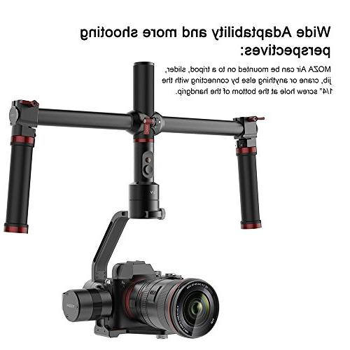 MOZA Air Gimbal Video Stabilizer+Dual Handle Grip+Mini Support Weights Between