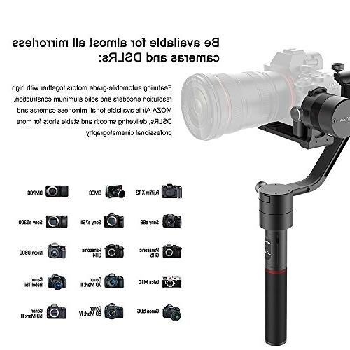MOZA Handheld Gimbal Grip+Mini Tripod Weights for DSLR and Mirrorless Camera GH5 GH4 GH3 EOS Mark