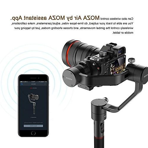 MOZA Air Gimbal Video Grip+Mini Support Weights DSLR GH5 GH4 BMPCC EOS