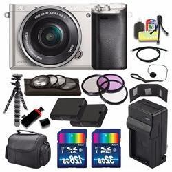 Sony Alpha A6000 Digital Camera w/ 16-50 Lens Silver - Batte