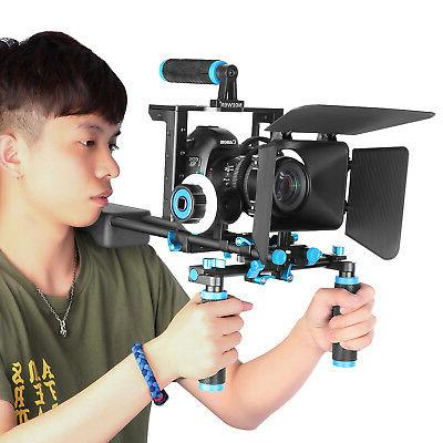 Neewer Aluminum Alloy Movie Rig Video for Canon Nikon