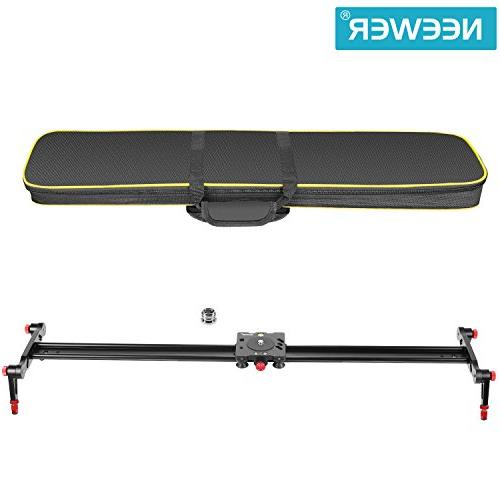 Neewer Track Slider Stabilizer Rail with for DSLR Video Camcorder Loads up to 17.5 pounds/8