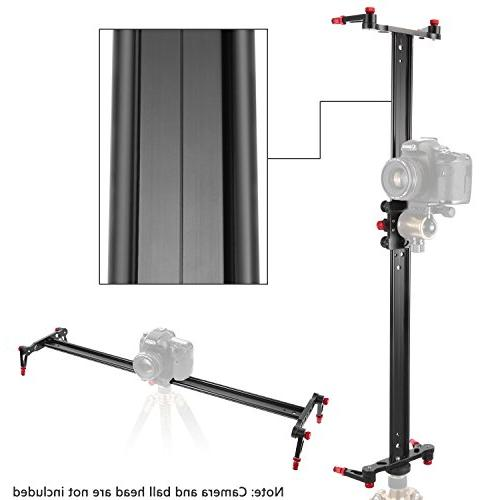 Neewer Aluminum Track Slider Video Rail 4 Bearings for Camera Video Film Photography, Loads to 17.5 pounds/8 kilograms