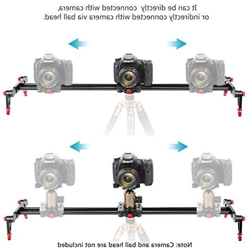 Neewer Aluminum Alloy Camera Track Slider Video Rail with 4 for DSLR Camera Loads 17.5 pounds/8