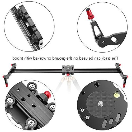Neewer Aluminum Alloy Track Slider Video Rail for Camera DV Video Loads up to 17.5