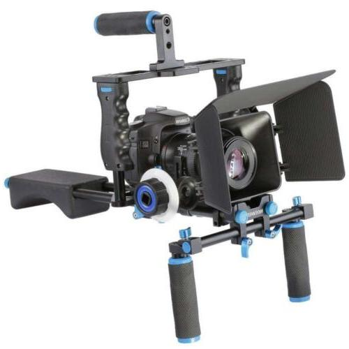 Aluminum Movie Kit System Rig DSLR US