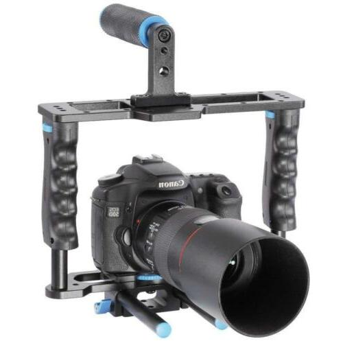 Aluminum Movie System Rig for Canon/Nikon/Pentax/Sony DSLR