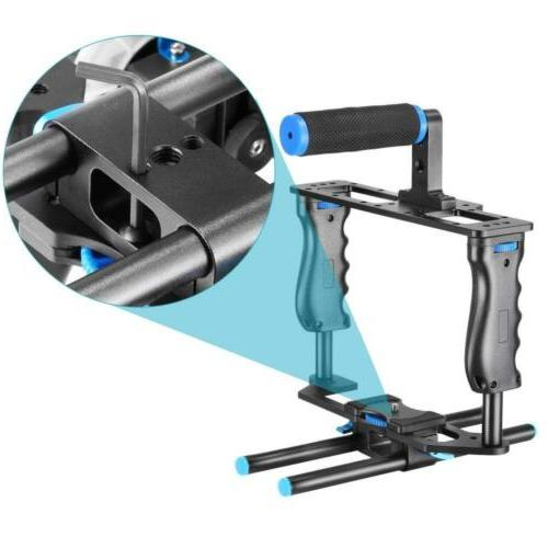 Aluminum Movie Kit System Rig for DSLR