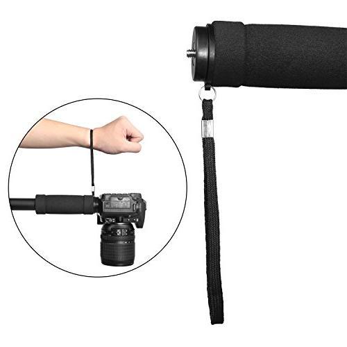 WAAO Monopod, Walking Trekking Flip Lock Travel Portable Monopod for DSLR Camcorder Video Nikon Canon Sony …