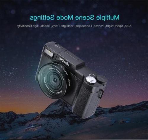 AMKOV AMK-R2 HD Digital SLR DSLR Camera Wide-angle Battery