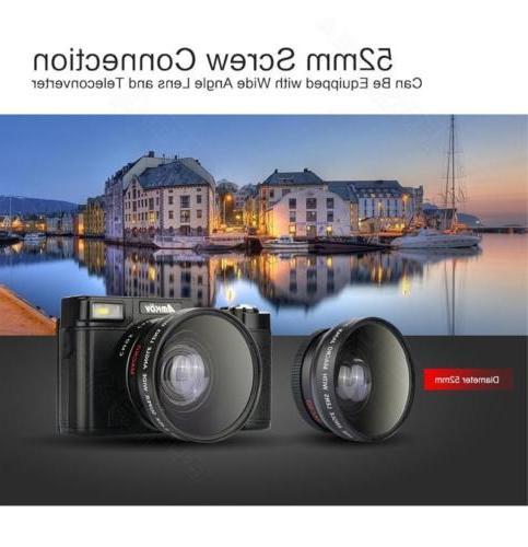 AMKOV AMK-R2 HD Camera Wide-angle Lens Battery