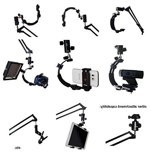5ft Articulating Mount Flexible Clamp Arm for Mirrorless/Digital Shape Stabilizer 5FT Reach Steel - Crane