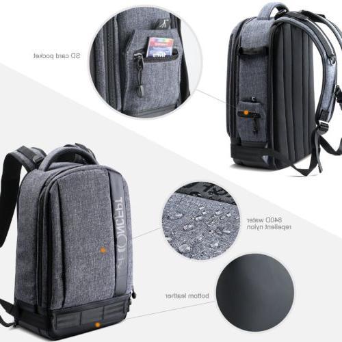 Large Camera Backpack Bag Case for Sony DSLR K&F Concept