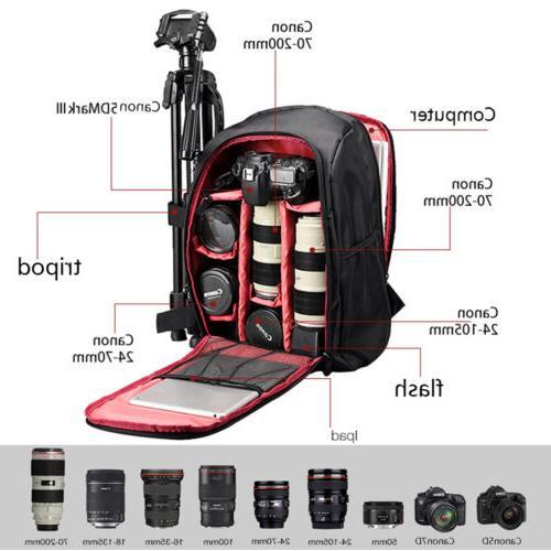 Waterproof Large Camera Backpack Shoulder Tripod Filter