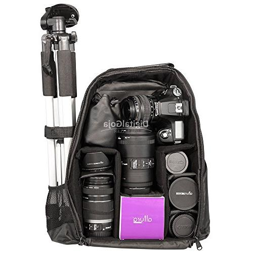 Travel Backpack DSLR Canon EOS Rebel Sony Pentax