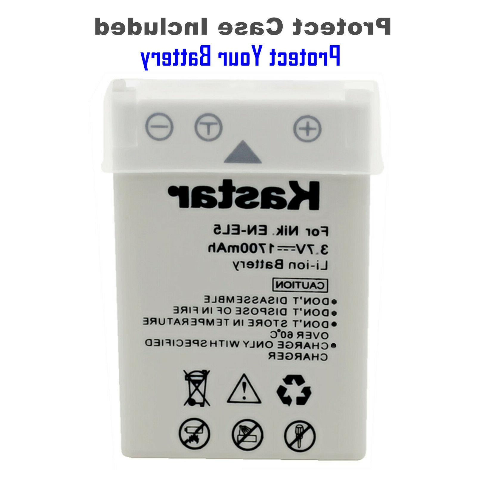 Kastar Charger for & Coolpix P80 Camera