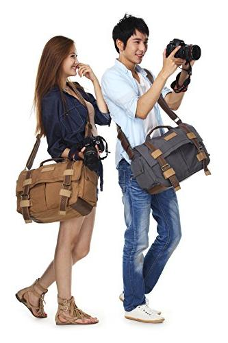 MOACC BBK Slr Camera Canvas Bag Backpack for Sony Nikon
