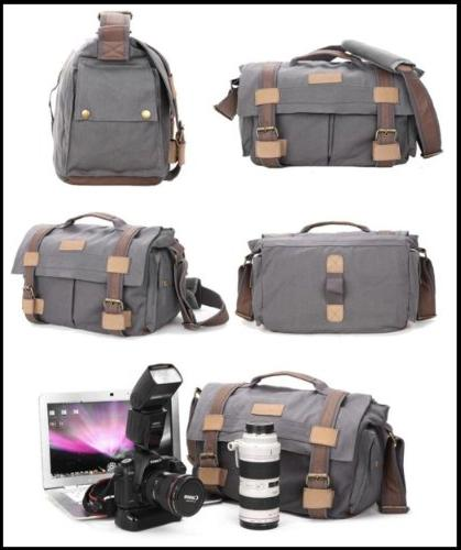 MOACC BBK DSLR Slr Camera Canvas Bag Backpack