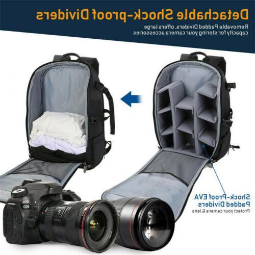 Waterproof Camera Backpack Shoulder Bag DSLR/SLR/TLR Filter Pack